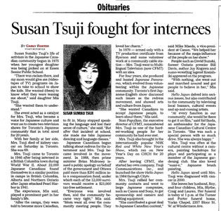 Susan Tsuji fought for internees – Carly M Foster